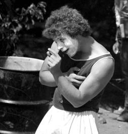 Mime in Peoples Park, Berkeley,  May 1969